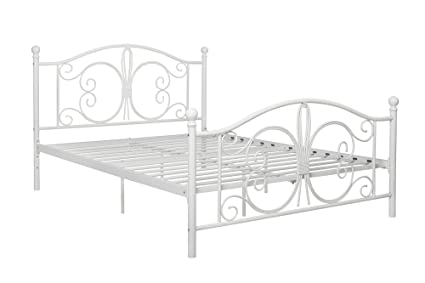 Amazon.com: DHP Bombay Metal Bed Frame, Vintage Design and Includes ...