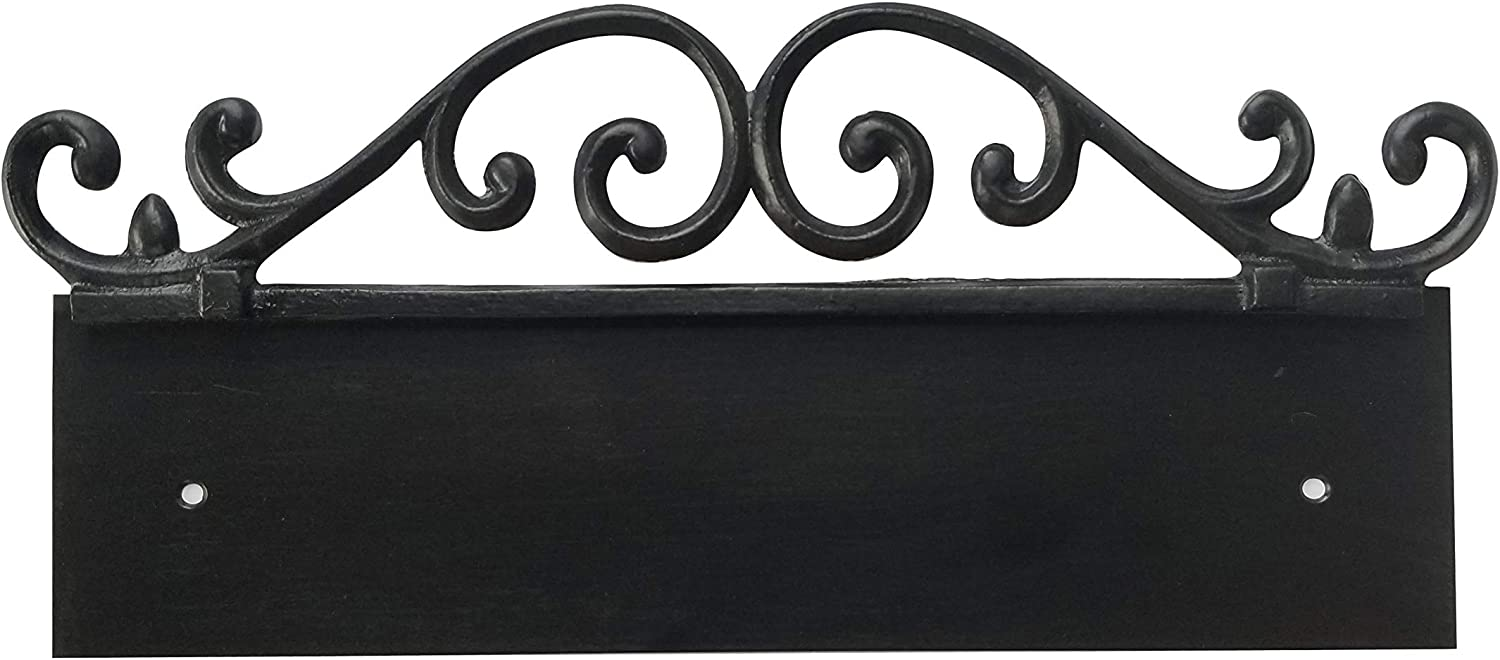 NACH KA 4 Address Sign Plaque for House Numbers, Old World, Cast Iron, 4
