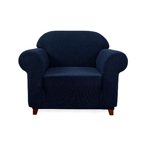 subrtex 1 Pieza Funda Sofa Elasticas Fundas de Sofa Antideslizante Cubierta Forros para Sofas Anti Arañazos Ajustable Protector (1 Plaza, Armada)
