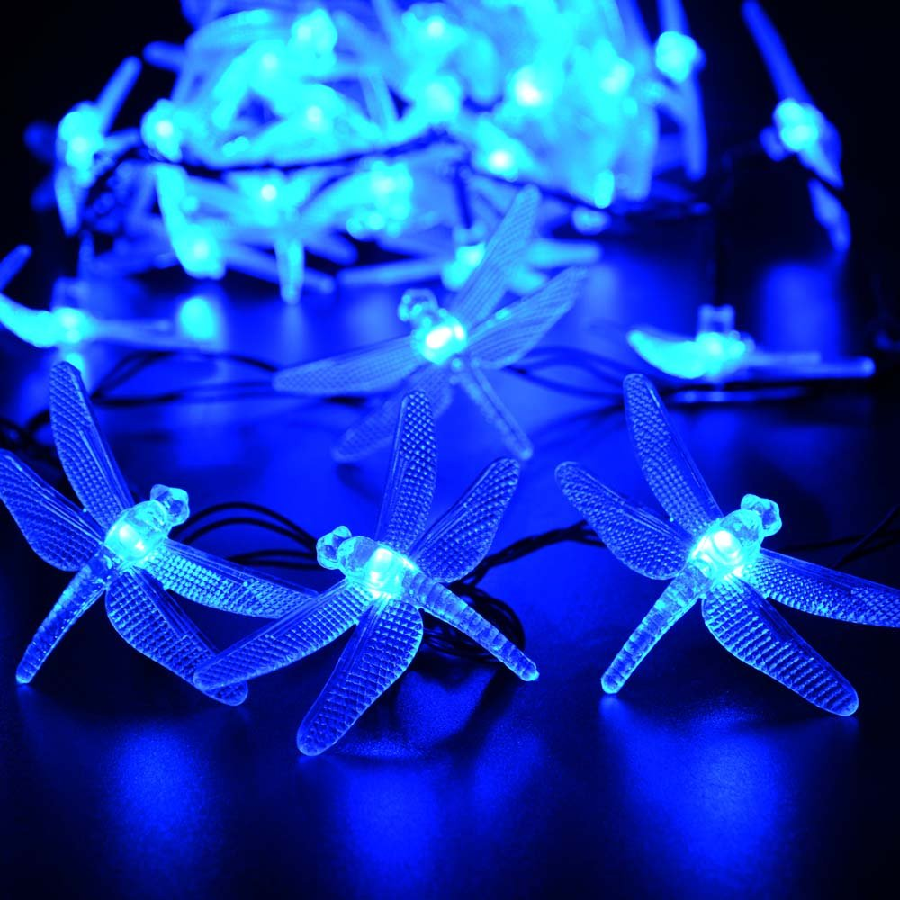 Amazon qedertek dragonfly outdoor solar lights 20ft 30 led amazon qedertek dragonfly outdoor solar lights 20ft 30 led waterproof fairy decoration lighting for indooroutdoor patio lawn garden party mozeypictures Gallery