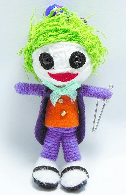 Amazon.com: Joker payaso cadena llavero con muñeca: Toys & Games
