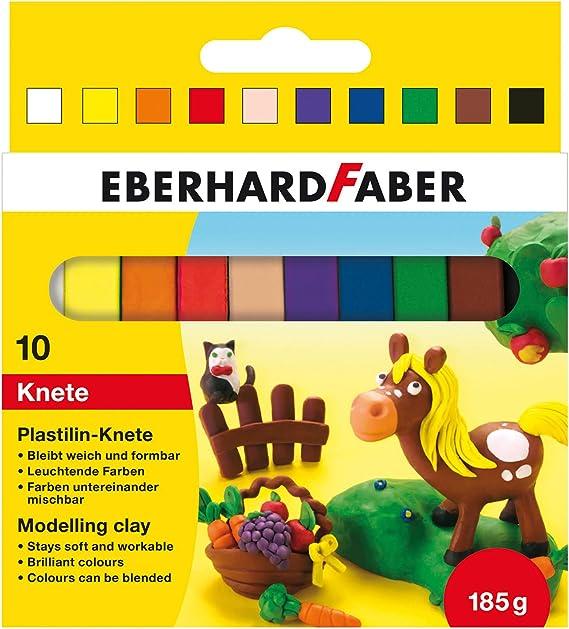 Eberhard Faber 572011 - Plastilina Arcilla de modelar en la Caja de cartón 10, Multicolor: Amazon.es: Juguetes y juegos