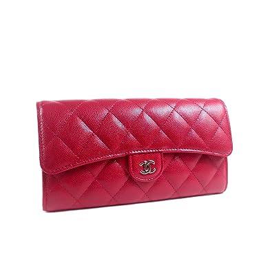 50002afc9cb2 Amazon   [シャネル ]二つ折り 長財布 キャビアスキン マトラッセ A80758 ...