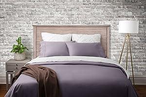 Magnolia Organics Dream Collection Duvet Set - Full/Queen, Elderberry Grey