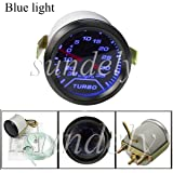 SUNDELY® Universal 52mm 2″ Blue LED Car Turbo Boost Pressure Gauge Meter Smoked 0 - 35Psi