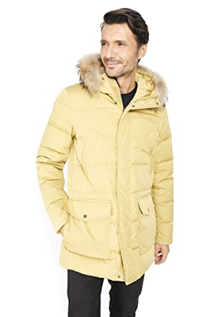 GOOSE FEEL Boris EV - Parka de Invierno para Hombre Moda ...
