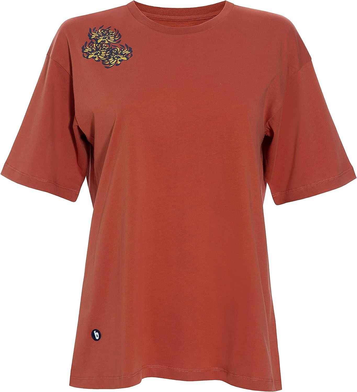Brava Fabrics | Camiseta Mujer Golden Flower | Camiseta para Mujer | Camiseta Mujer | 100% Algodón | Modelo Golden Flower: Amazon.es: Ropa y accesorios