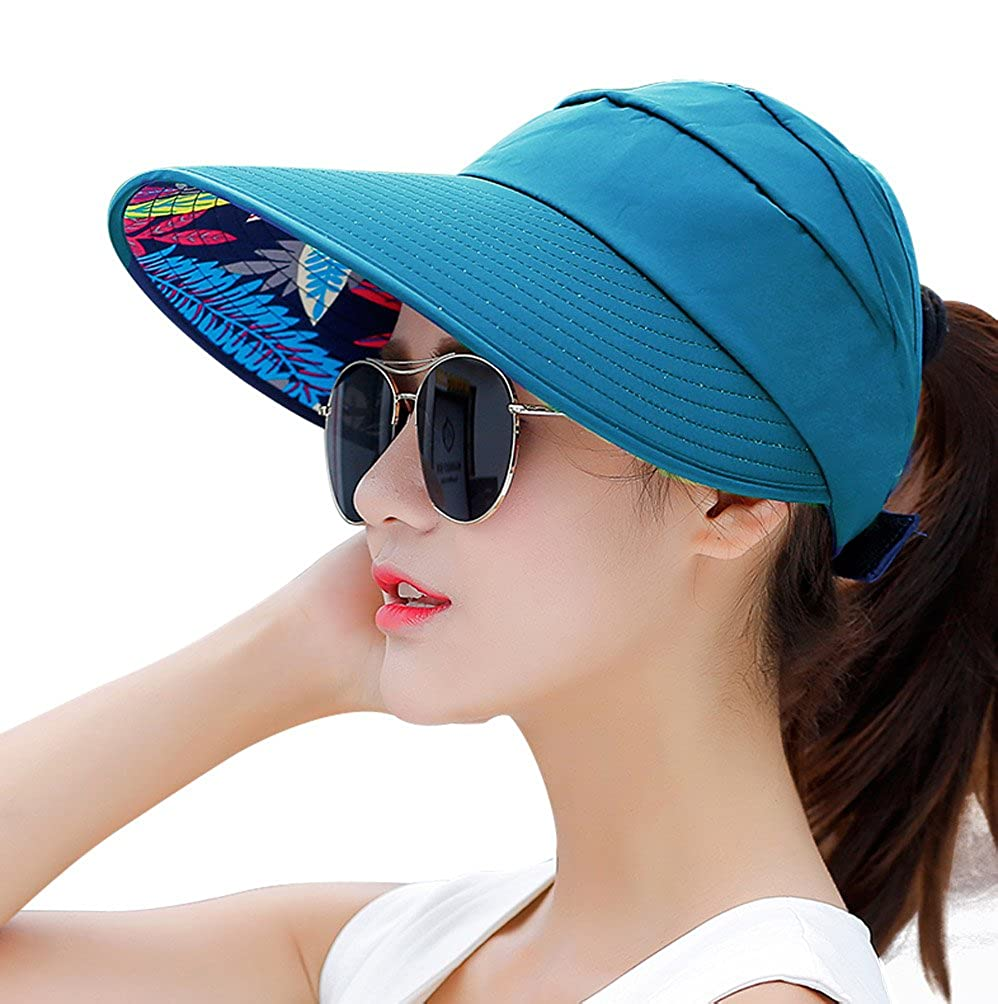 HindaWi Sun Hat Wide Brim Sun Hats for Women Packable UPF UV Protection Visor Floppy Beach Womens Summer Cap NT2390-BK