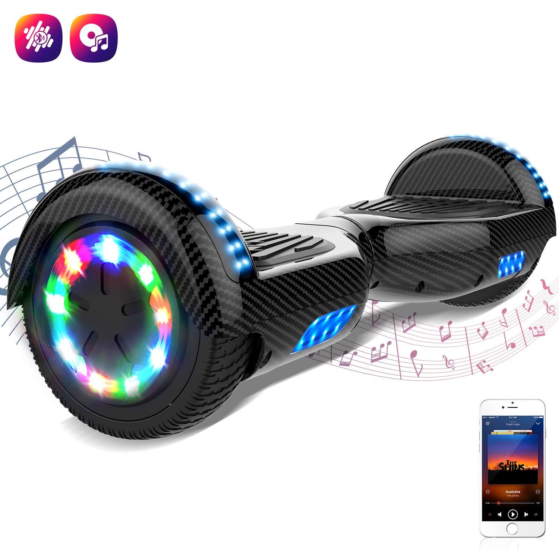 Markboard Hoverboard Patinete Eléctrico Scooter Monopatín Auto- Equilibrio con Bluetooth LED Indicador
