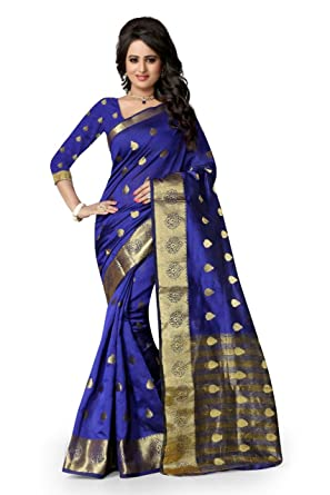 385b01275d Amazon.com: blue Silk Designer Saree for Women Indian Traditional Ethnic Saree  Dress for Women Blouse Partywear Wedding: Clothing