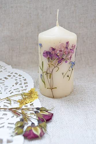 Amazon Real Dried Flower Candle Wedding Party Favor Rustic