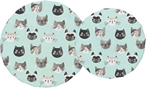 Now Designs, Cats Meow Bowl Covers, Set of 2, 2 CT