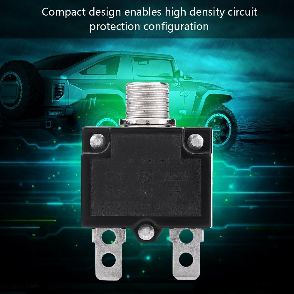VGEBY1 Thermische Leistungsschalter Drucktaste AC 125 /Überstromschutzschalter mit Manueller R/ückstellung f/ür Generator 250V