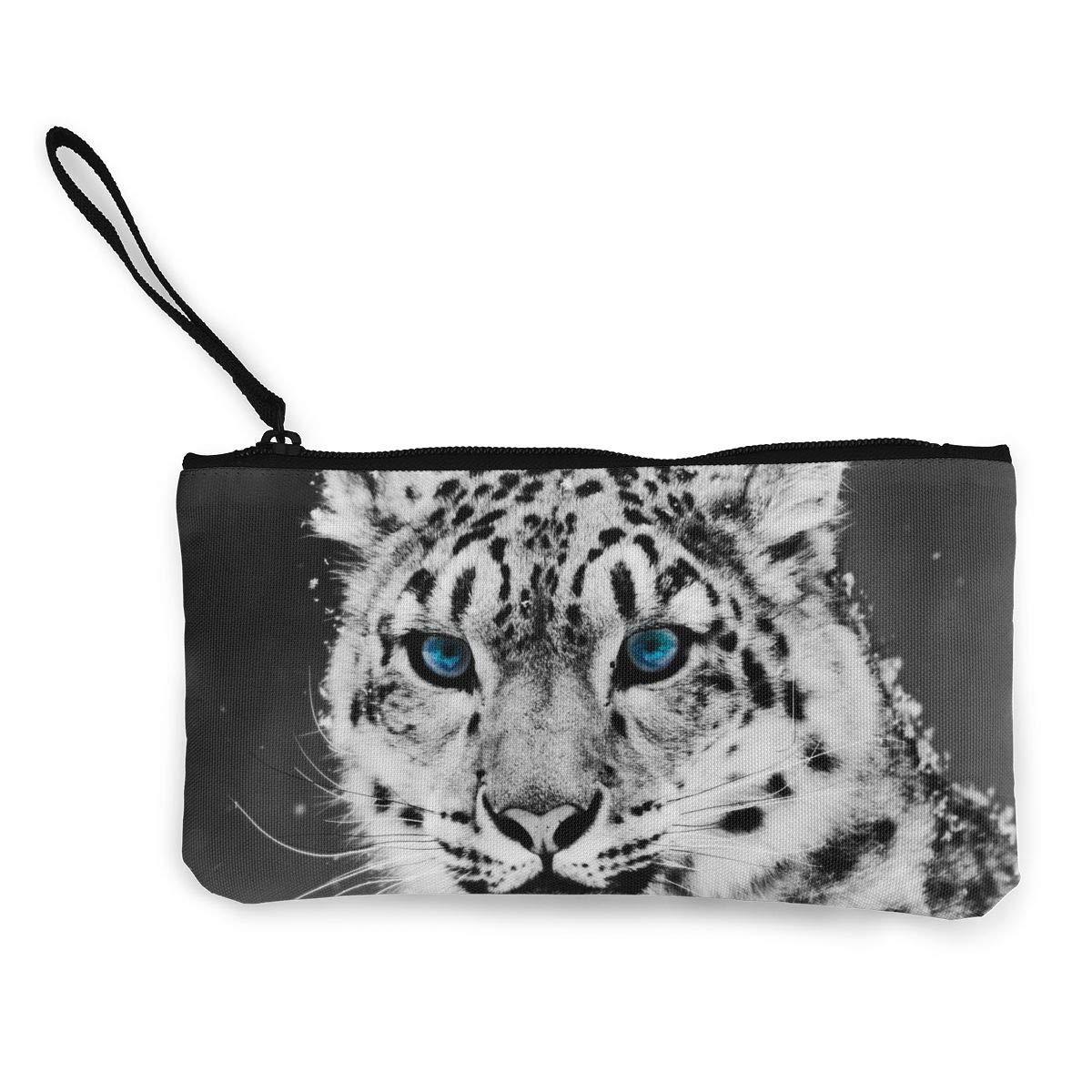 Amazon.com: Monedero con diseño de leopardo de nieve, bolsa ...