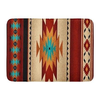 Amazoncom Coolest Secret Bath Mat Native Tribal Indian Geometric