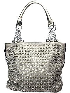 Amazon.com: Zzfab 2nd Gen Chain Rhinestone Handbags Circle ...