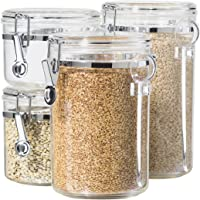 4-Piece Oggi Acrylic Canister Set with Airtight Lids
