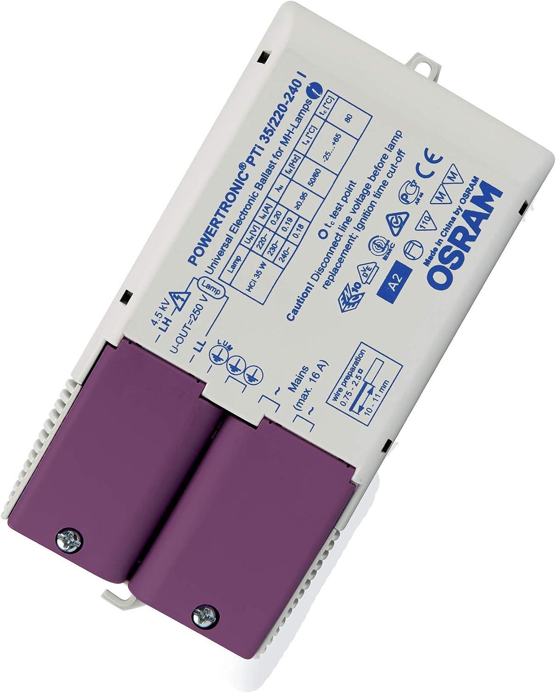 PTI 35//220-240 I Powertronic Intelligent PTi I Osram Lamps Balasto Electr/ónico