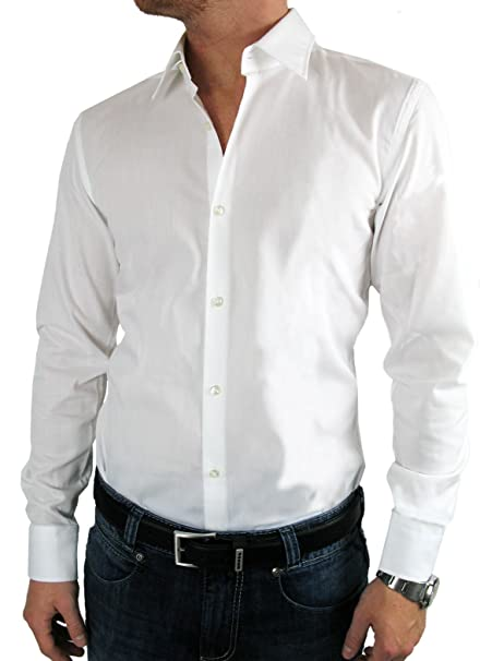 Hugo Boss - Camisa Formal - Normal - para Hombre Blanco Small  Amazon.es   Ropa y accesorios 61e339636c0