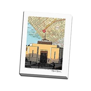 Amazon.com: Santa Monica City Hall Printed on 18x24 Canvas ...