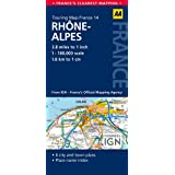 AA Road Map Rhone-Alpes (AA Touring Map France 14) (Road Map France)