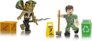 Roblox Celebrity Collection - Nefertiti: The Sun Queen + Welcome to Bloxburg: Glen The Janitor Two Figure Bundle [Includes 2 Exclusive Virtual Items]