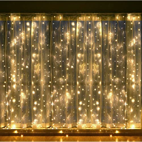 zstbt 608led linkable window curtain lights icicle fairy lights for wedding patio lawn and garden - Christmas Ceiling Decorations