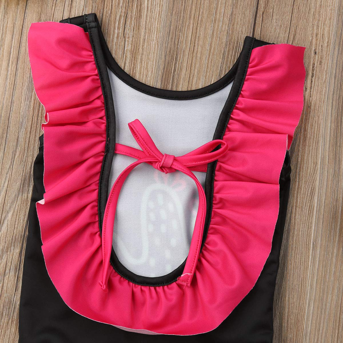 Wallarenear Kids Baby Girls Cactus One Piece Swimsuit Adjustable Bandage Sleeveless Swimwear Beachwear Bathing Suit