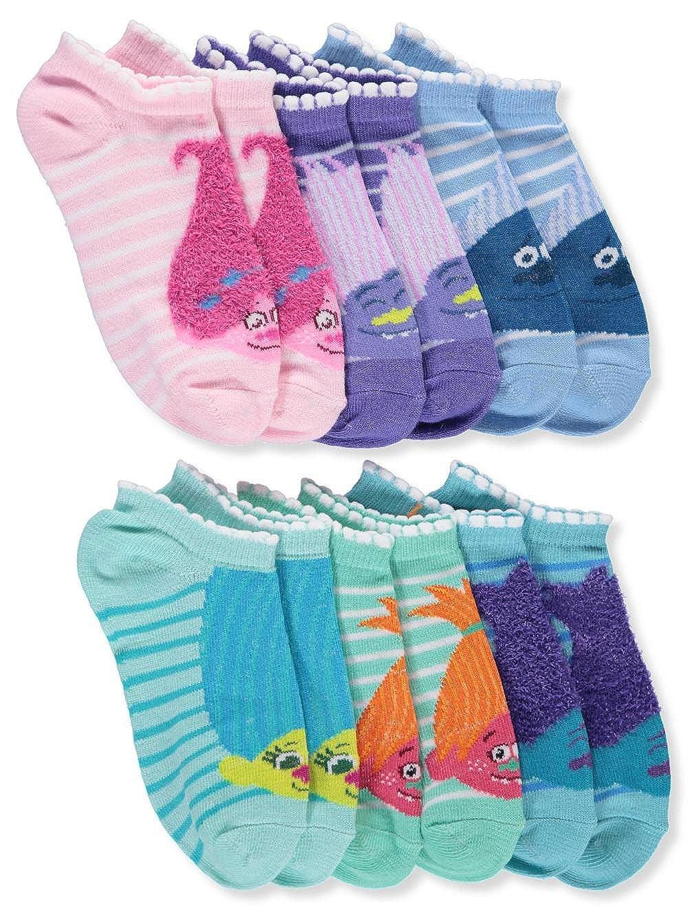 Trolls Baby Girls' 6-Pack Ankle Socks