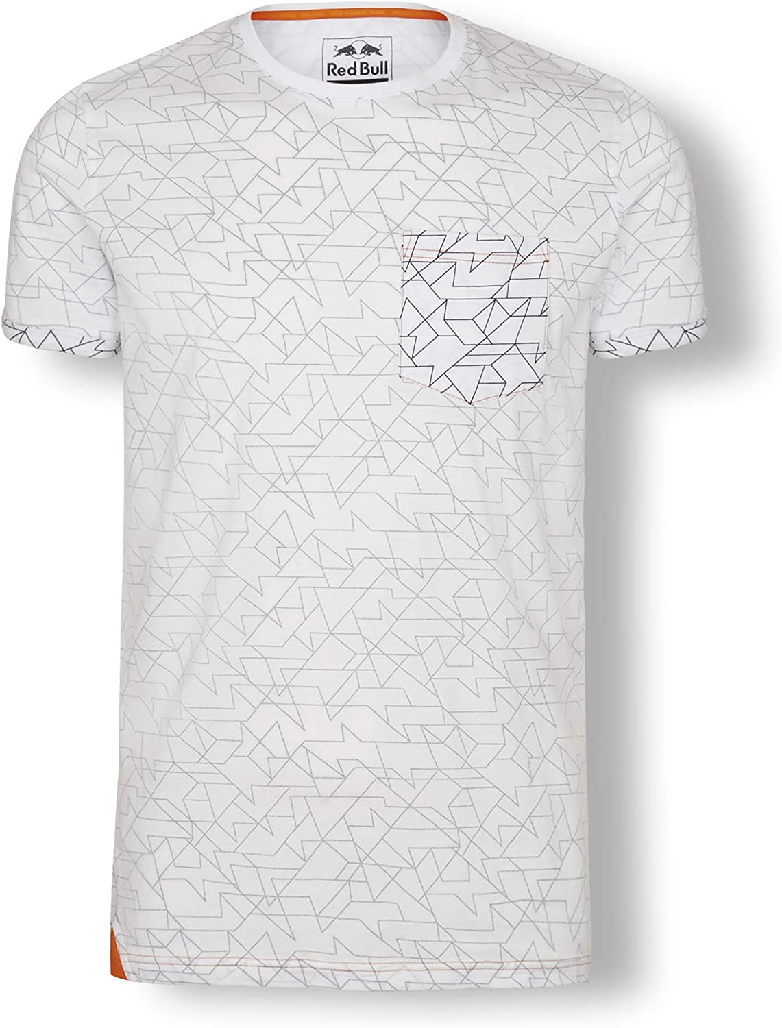 Red Bull KTM Inside-out-Print Camiseta, Blanco Hombre Top, KTM Factory Racing Original Ropa & Accesorios