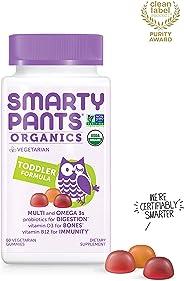 Daily Organic Gummy Toddler Multivitamin: Biotin, Vitamin C, D3, E, B12, A, Omega 3, Zinc, Selenium, Niacin, Iodine, Choline,