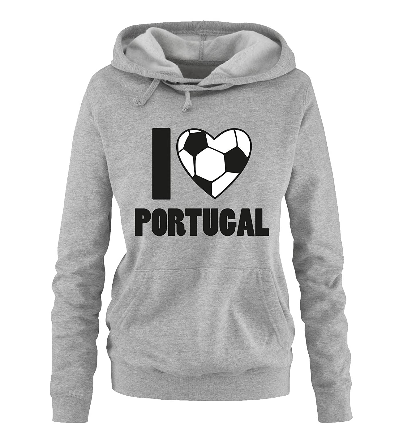 Comedy Shirts I Love Portugal | EM | WM | Damen Hoodie