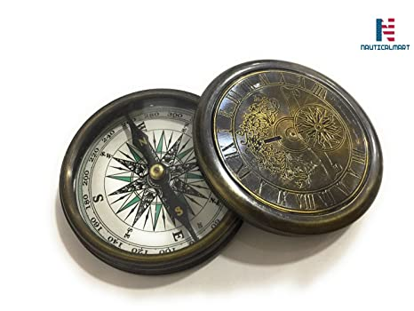 Maritime Compasses Brass Compass Antique Nautical Vintage Style Engraved Brass Compass Boy Scouts