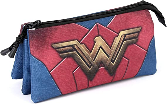 Wonder Woman Emblem-Estuche Portatodo Triple HS: Amazon.es: Equipaje