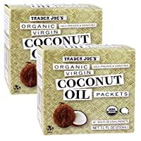 Trader Joe's Organic Coconut Oil Packets, 2-Pack (28 packets) Virgin Coconut Oil...