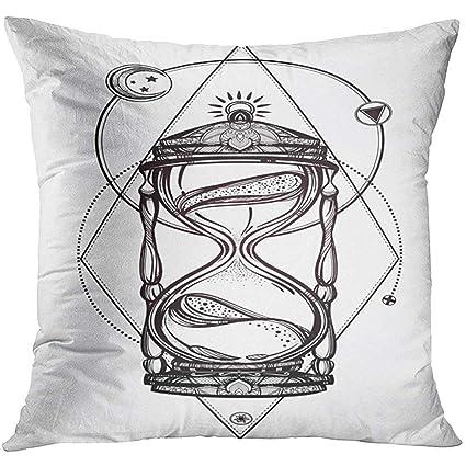 Amazon Com Throw Pillow Cover Black Moon Romantic Beautiful Drawing
