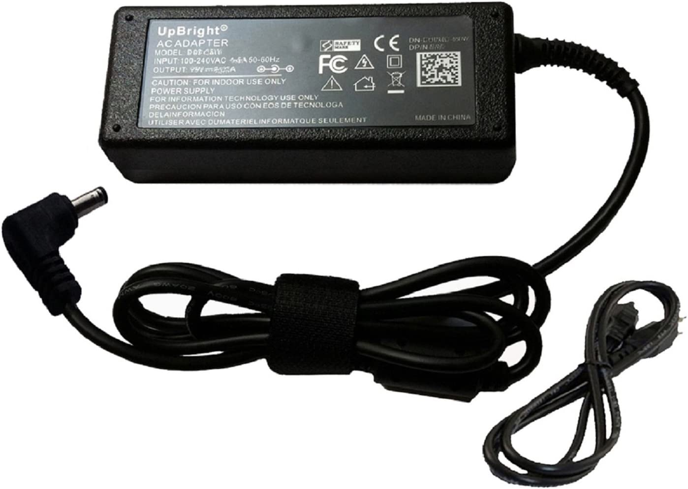 UpBright 19V AC/DC Adapter Compatible with Asus RT-AC68U AC68R AC68W AC56U AC56R AC1200 AC1900 Router C200 C300 X200L X200CA CT121H P553M E402M E402S R540 X541 F553 X102BA 14 TP401 TP201SA 19VDC Power