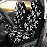 Kunpeng Trippy Multi Pot Weed Leaves Peace Sign Car Seat Covers for Front Vehicle Seat Protector Fit Most Car Truck SUV Van