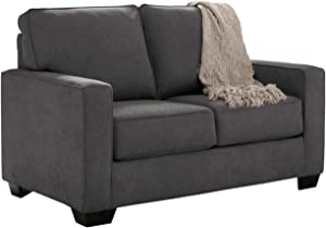 Signature Design by Ashley - Zeb Contemporary Microfiber Sleeper Sofa - Twin Size Mattress - Chaecoal