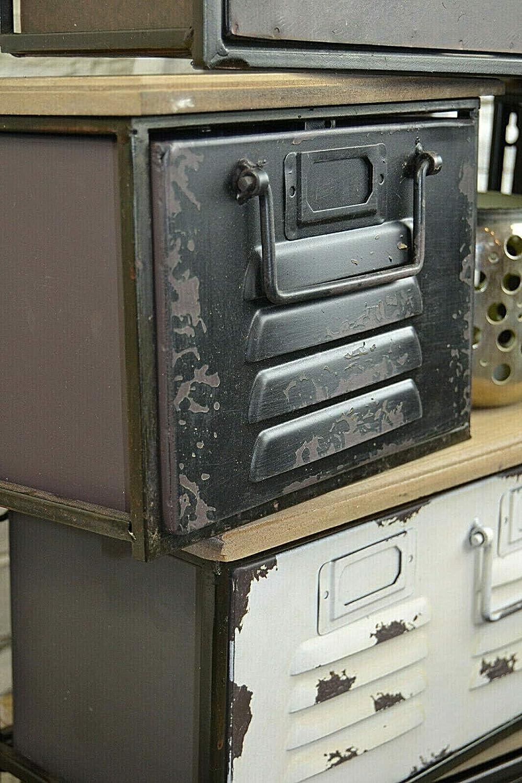 Livitat/® Regal mit Schublade Schweberegal Wandboard H/ängeregal Metall Vintage Industrie Loft Design LV5062