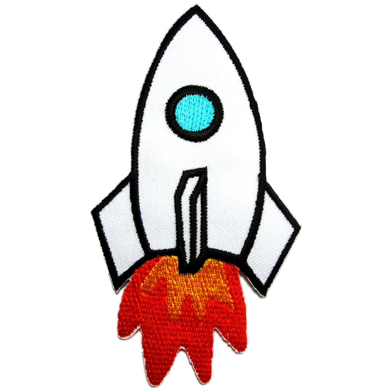 amazon com iron on patches rocket for kids