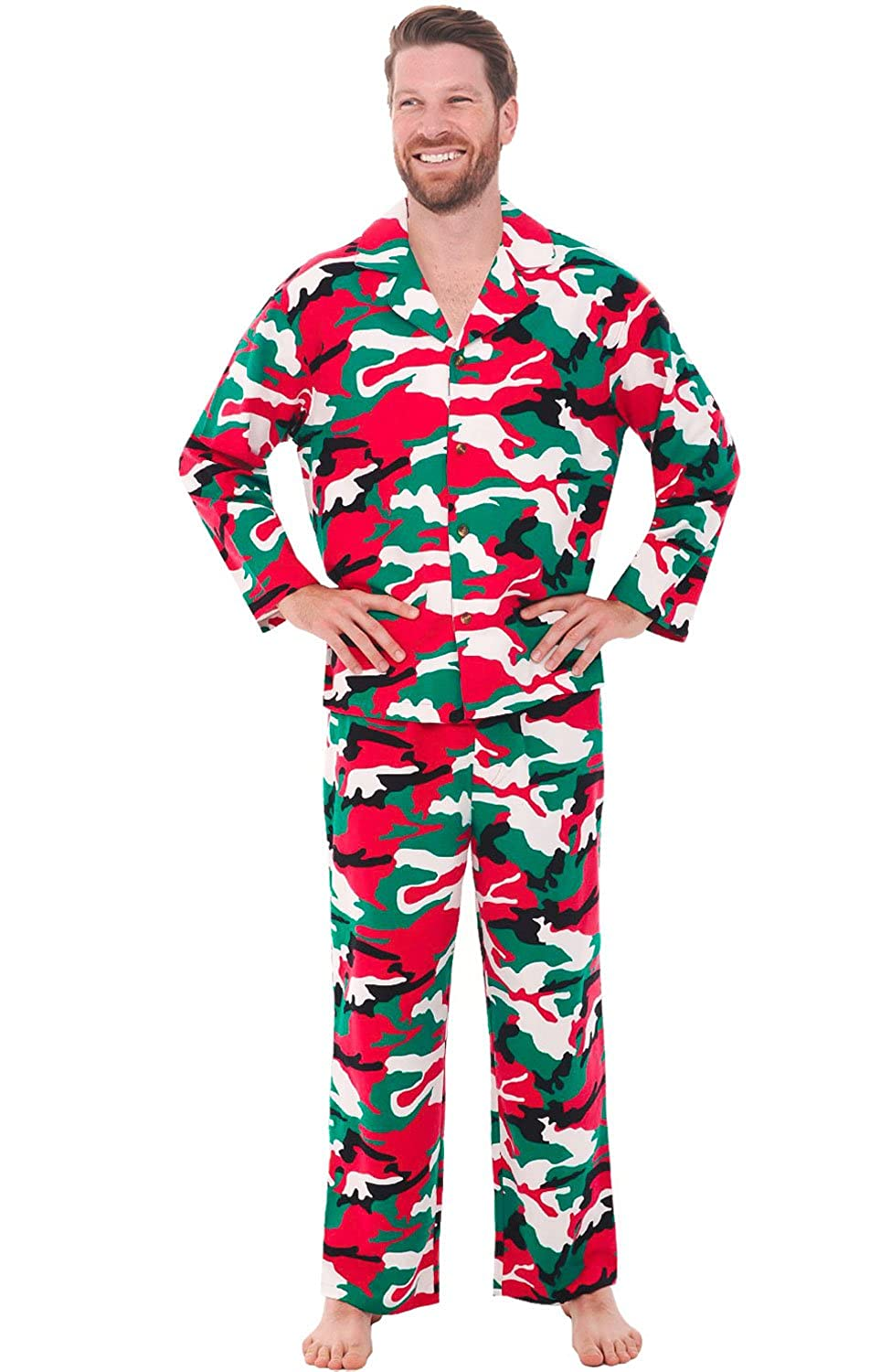Alexander Del Rossa Mens Solid and Printed Flannel Pajamas, Long Cotton Pj Set A0544-Solids-and-Prints