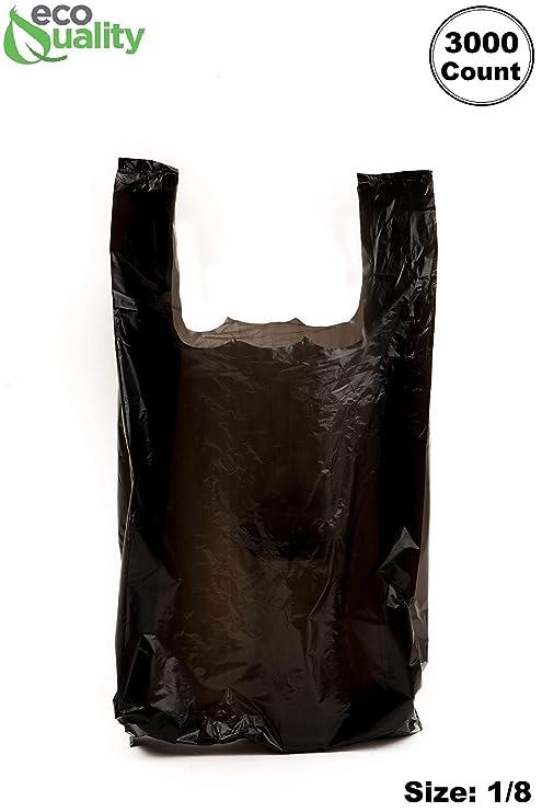 EcoQuality - Bolsas de plástico para camiseta (3000 unidades ...