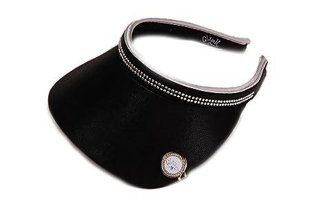 Women s Clip On Visor Glove It Golf   Tennis Slide On Head Visors for Women  Ball Marker Included UV 50 Protection Ladies Sun Visor Hat Large Wide Brim  Black ... 6a702cbd20e
