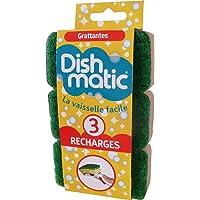 Dishmatic - Juego de 3 recambios de esponja