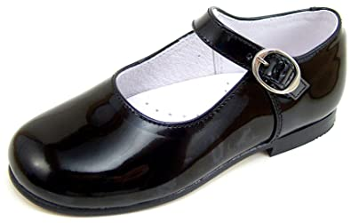 4cfbb4a2a11ada Image Unavailable. Image not available for. Color: Girls Black Patent  Leather Dress Shoes ...