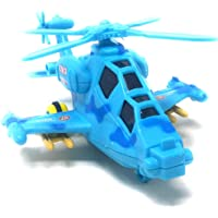 Akrobo Toy Friction Powered Early Educational Toddler Baby Toy Push and Go Helicopter, Toys Gift for Kid with Light and Music