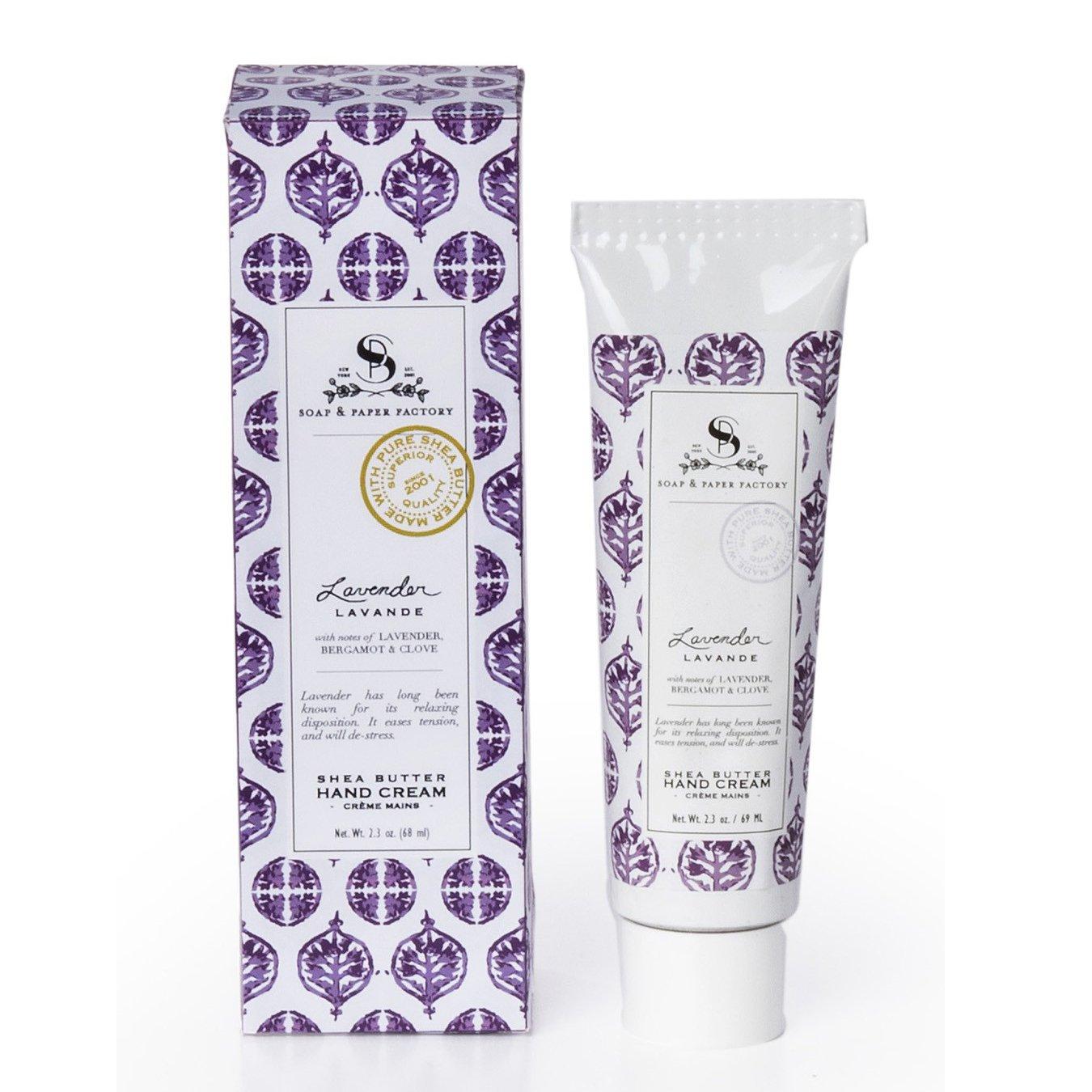 The Soap & Paper Factory Lavender Shea Butter Hand Cream, 2.3 oz