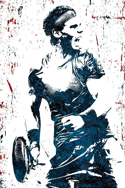Amazon Com Smartzone Rafael Nadal Tennis Art Wall Indoor Room Outdoor Poster Water Resistant Poster Size 24 X 36 Posters Prints