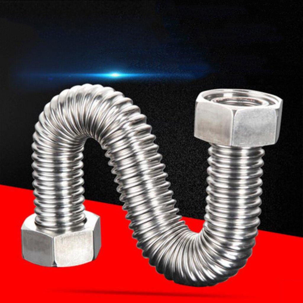 Wddwarmhome Ripple Tube 304 Tubo di entrata del riscaldatore dell'acqua dell'acciaio inossidabile Tubo del metallo di esplosione caldo e freddo (dimensioni   300cm)